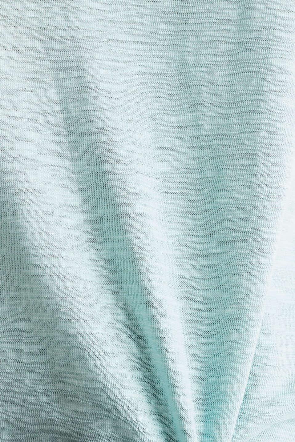 Slub top with a casual cut, LIGHT AQUA GREEN 4, detail image number 4