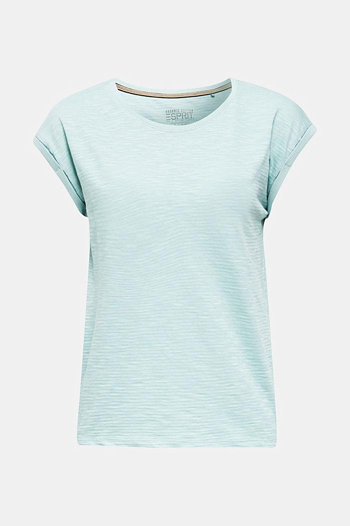 Slub-Shirt mit lässigem Schnitt, LIGHT AQUA GREEN, detail image number 6