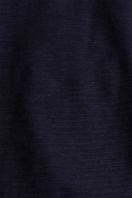 Slub top with a casual cut, NAVY, detail