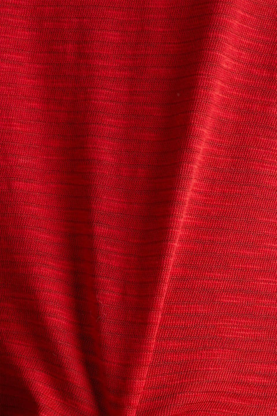 Slub top with a casual cut, DARK RED 3, detail image number 3