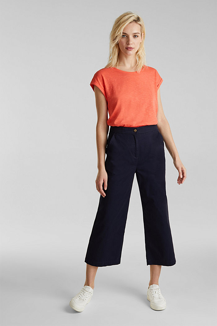 Slub top with a casual cut, CORAL, detail image number 1