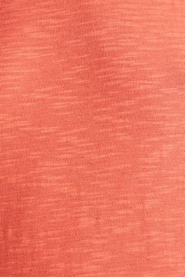 Slub top with a casual cut, CORAL 4, detail