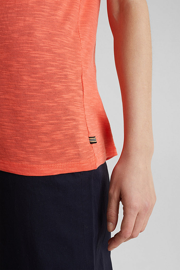 Slub top with a casual cut, CORAL, detail image number 5
