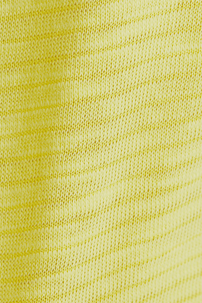 Slub top with a casual cut, BRIGHT YELLOW, detail image number 4