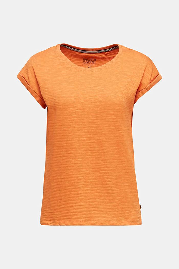 Slub-Shirt mit lässigem Schnitt, RUST ORANGE, detail image number 6