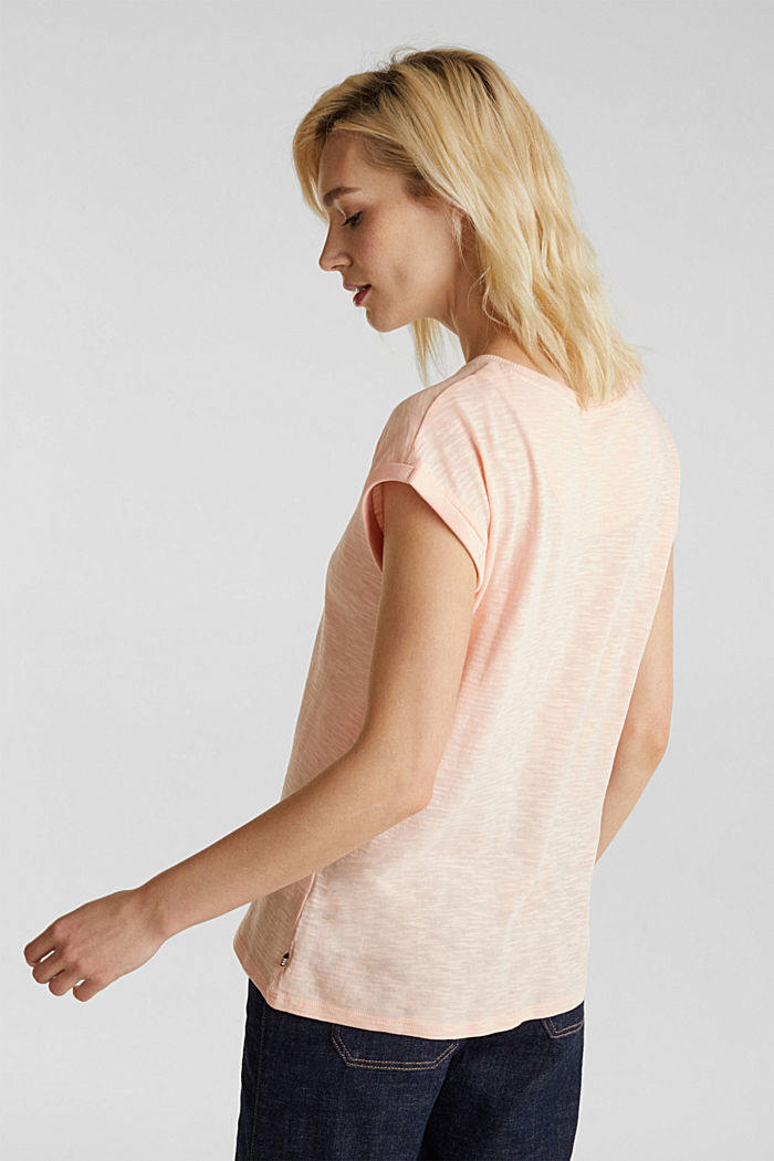 Slub top with a casual cut, PEACH, detail image number 3