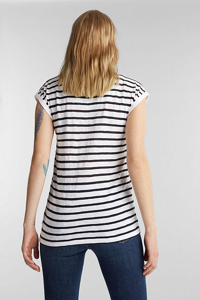 Slub-Shirt mit Ripp-Blenden, WHITE, detail image number 3