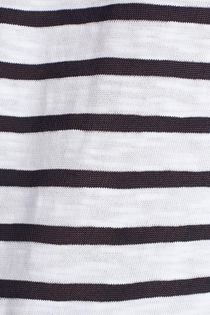 Slub-Shirt mit Ripp-Blenden, WHITE, detail image number 4