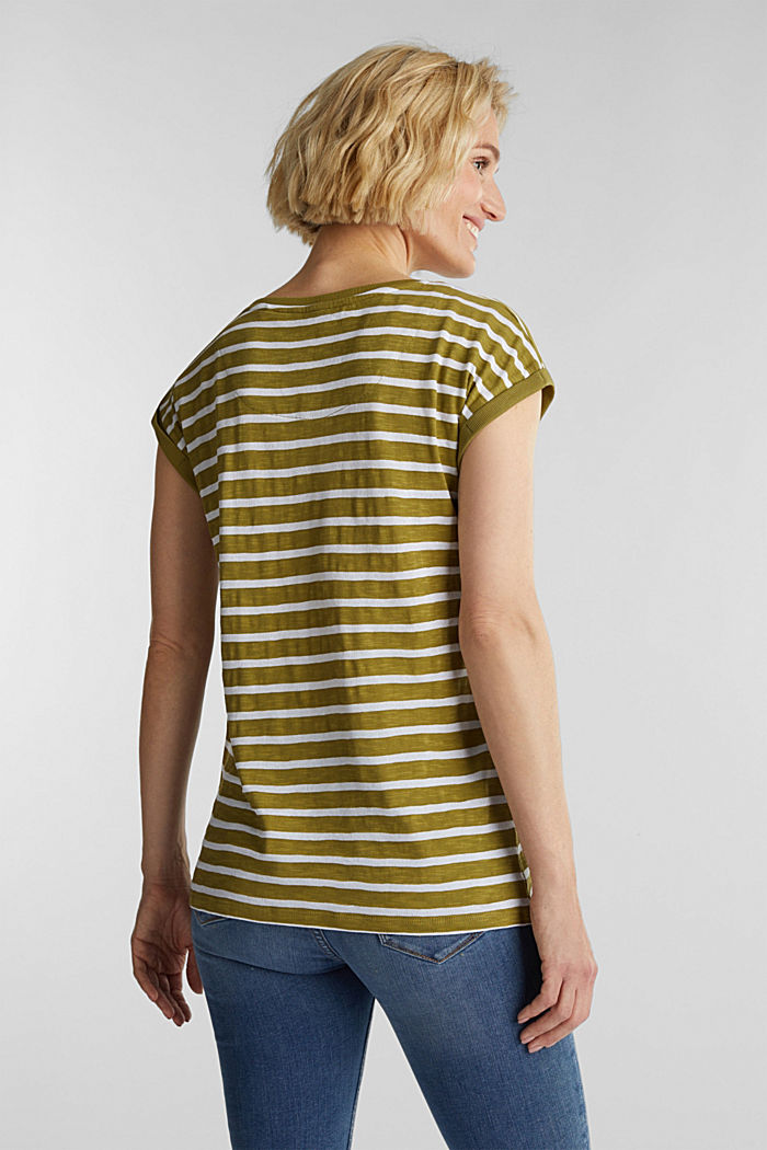 Slub top with ribbed trims, OLIVE, detail image number 3