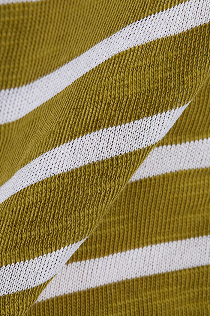 Slub top with ribbed trims, OLIVE, detail image number 4