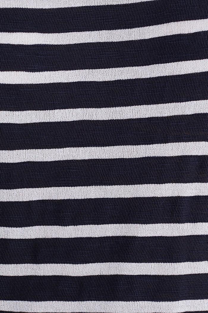 Slub-Shirt mit Ripp-Blenden, NAVY, detail image number 4