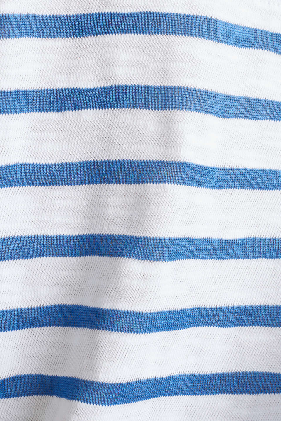 Slub top with ribbed trims, BRIGHT BLUE 3, detail image number 4