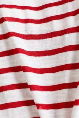 Slub top with ribbed trims, DARK RED 3, detail
