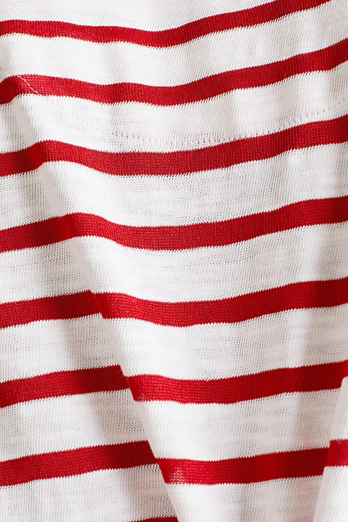 Slub top with ribbed trims, DARK RED, detail image number 4