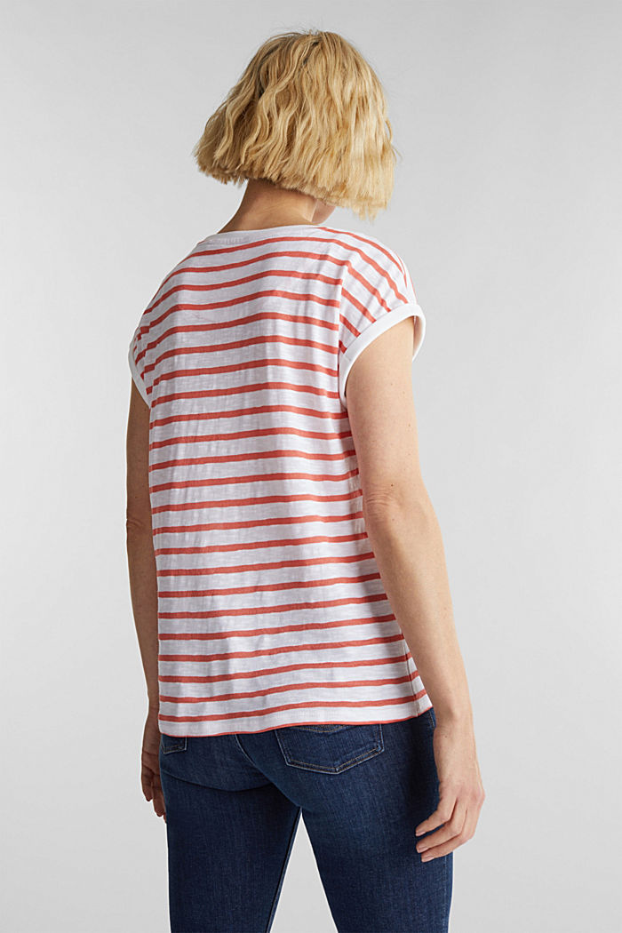 Slub top with ribbed trims, CORAL, detail image number 3