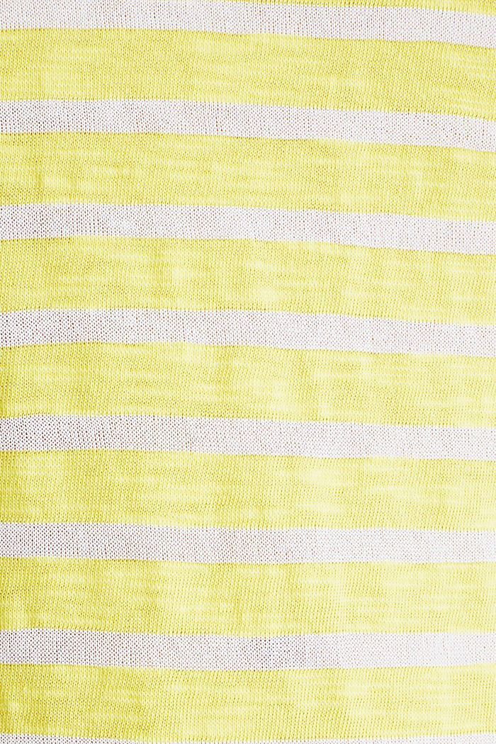 Slub-Shirt mit Ripp-Blenden, BRIGHT YELLOW, detail image number 3