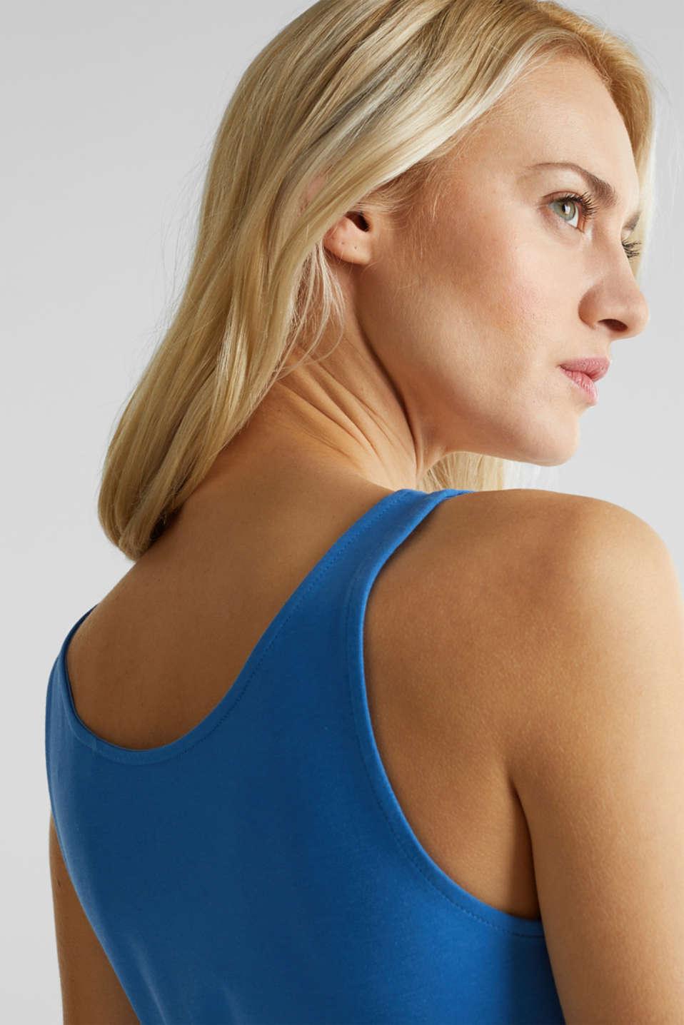 Stretch cotton vest, BRIGHT BLUE 3, detail image number 4