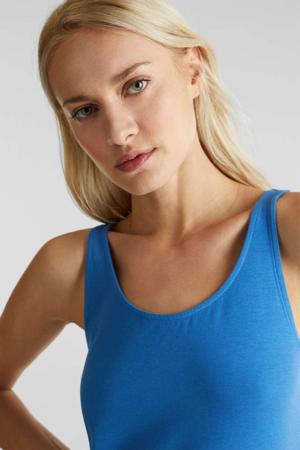 Stretch cotton vest, BRIGHT BLUE 3, detail image number 5
