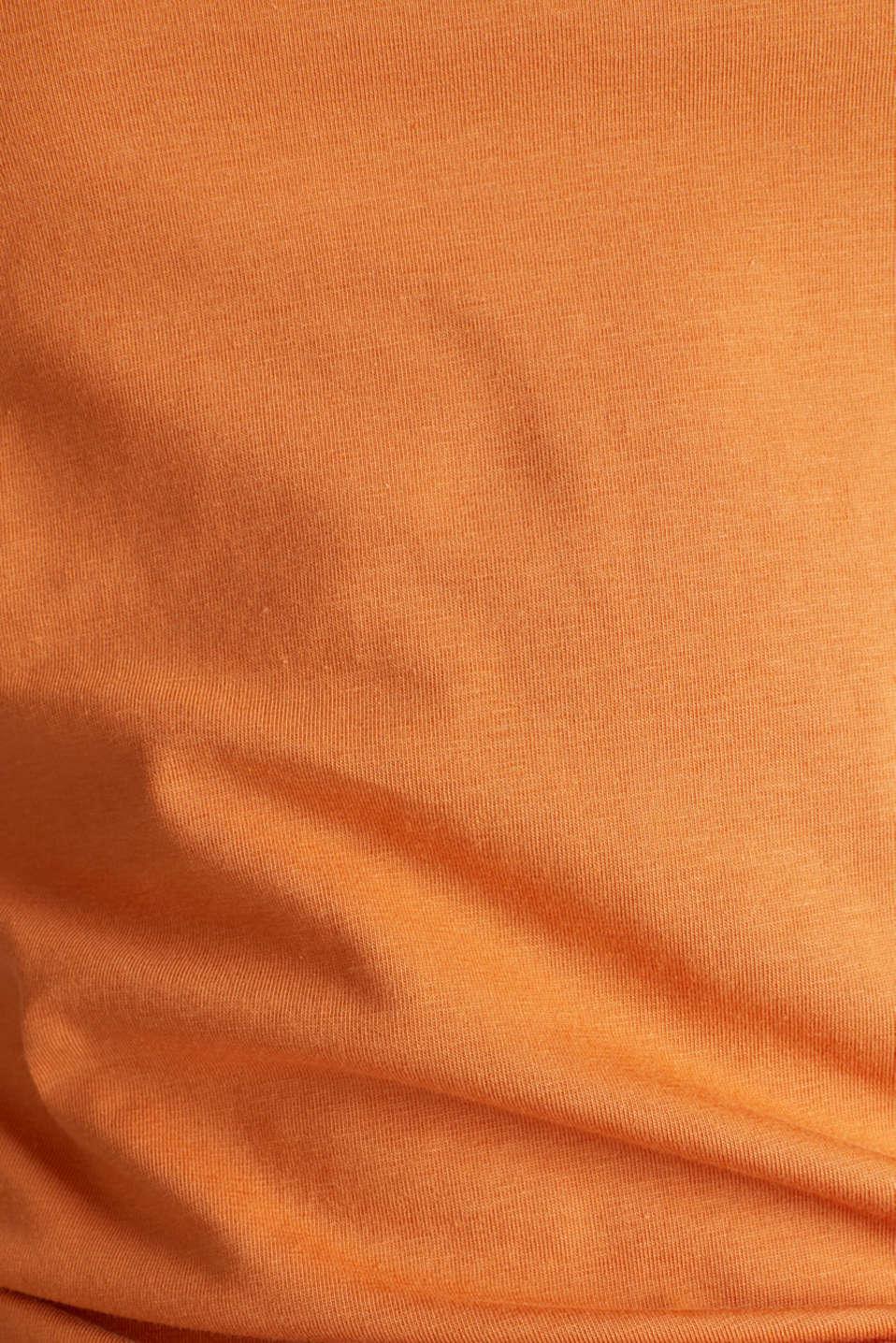 Stretch cotton vest, RUST ORANGE 4, detail image number 3