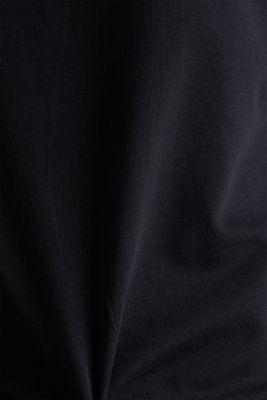 V-neck top made of stretch cotton, BLACK, detail