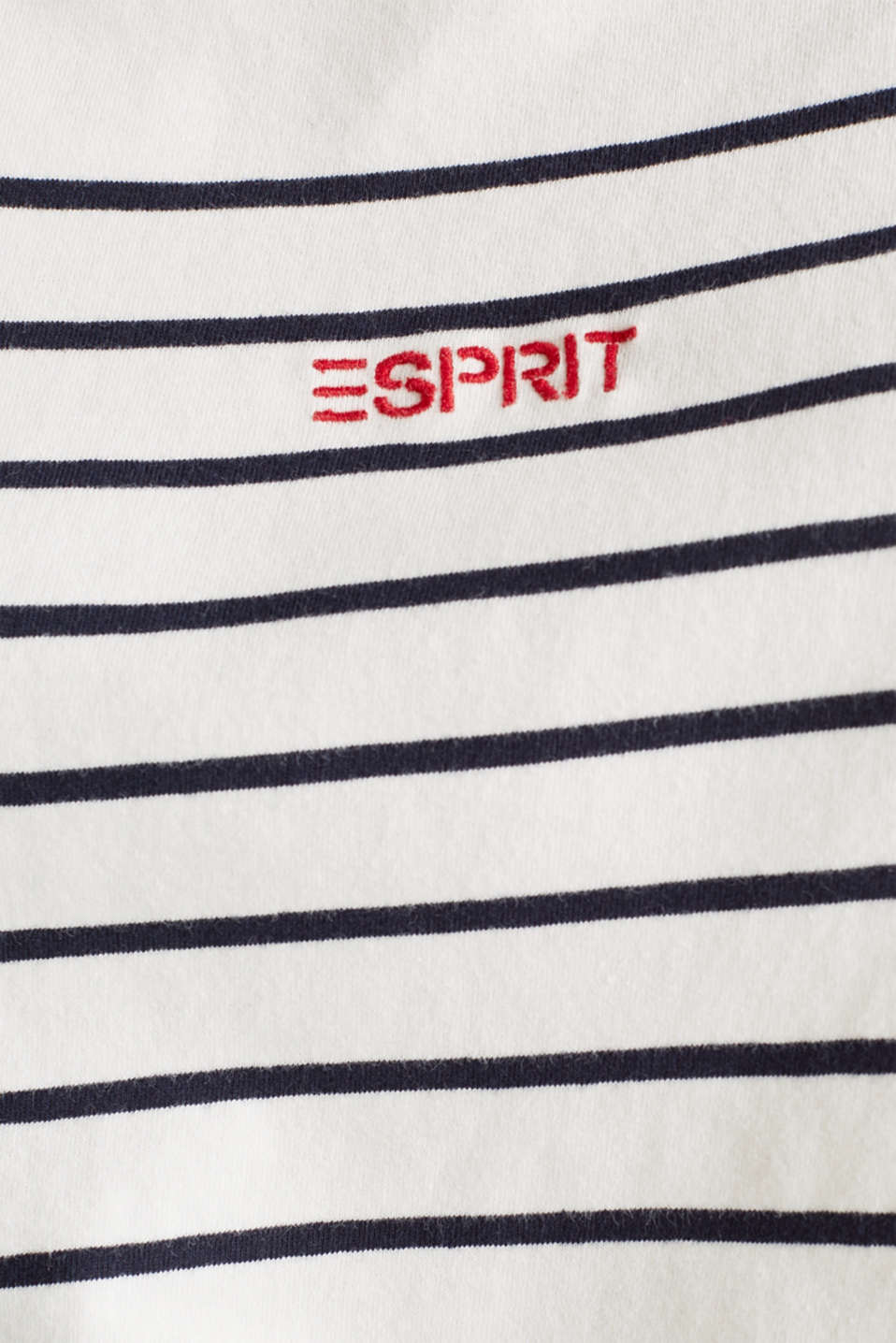 Striped top with embroidery, 100% cotton, OFF WHITE, detail image number 3