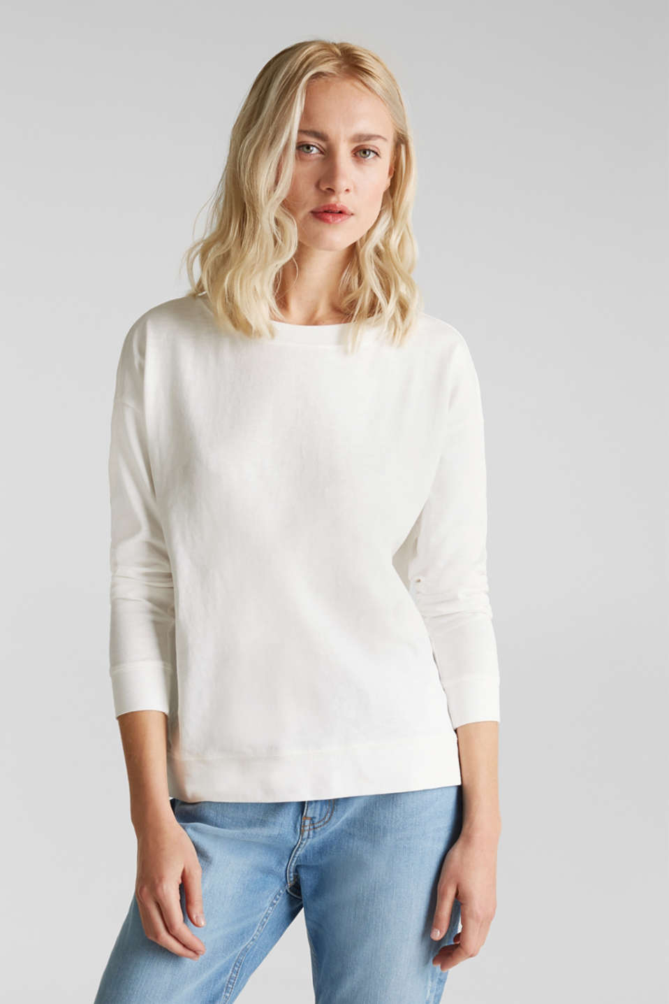 Esprit - Sweat-shirt flammé en pur coton bio