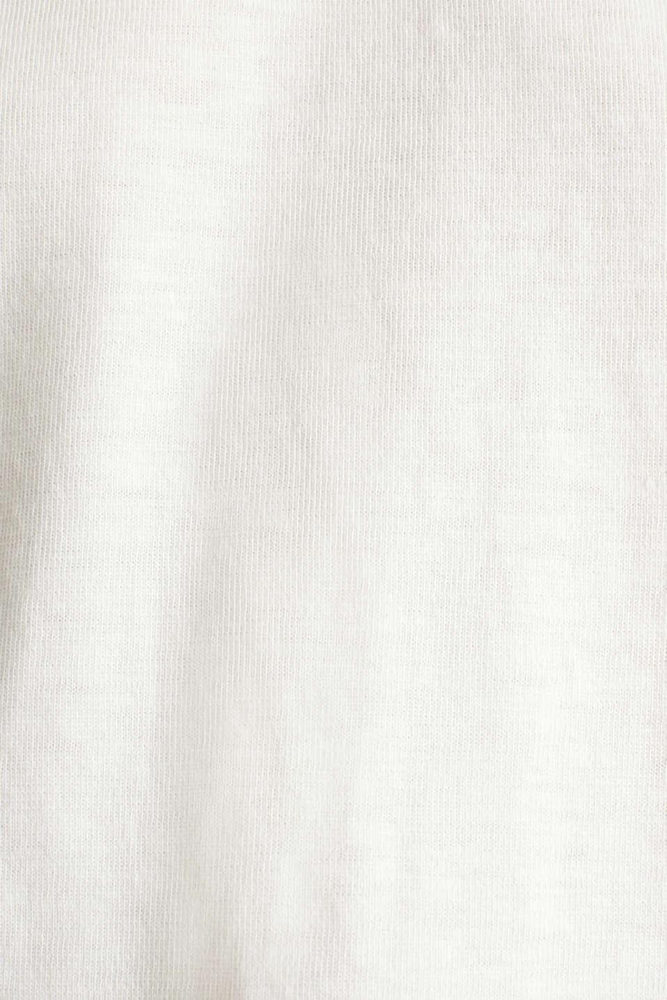 Slub sweatshirt made of 100% organic cotton, OFF WHITE, detail image number 3