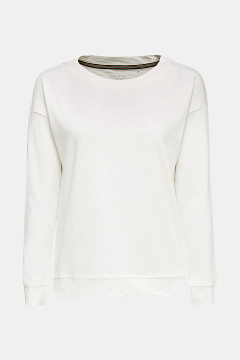 Slub sweatshirt made of 100% organic cotton