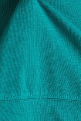 Slub sweatshirt made of 100% organic cotton, TEAL GREEN, detail