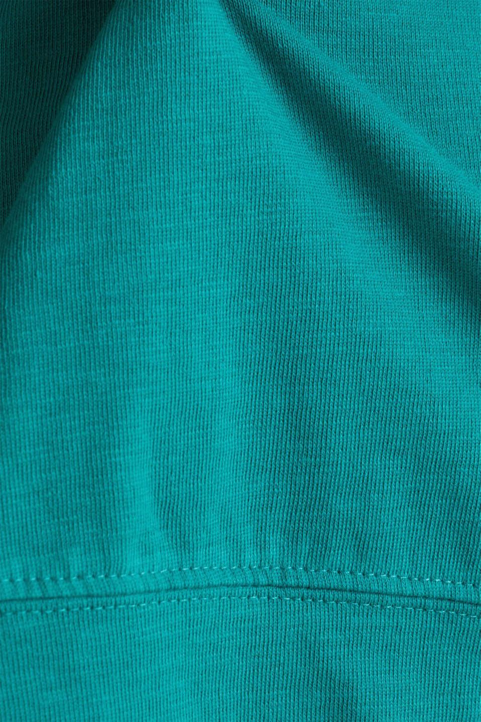 Slub sweatshirt made of 100% organic cotton, TEAL GREEN, detail image number 3