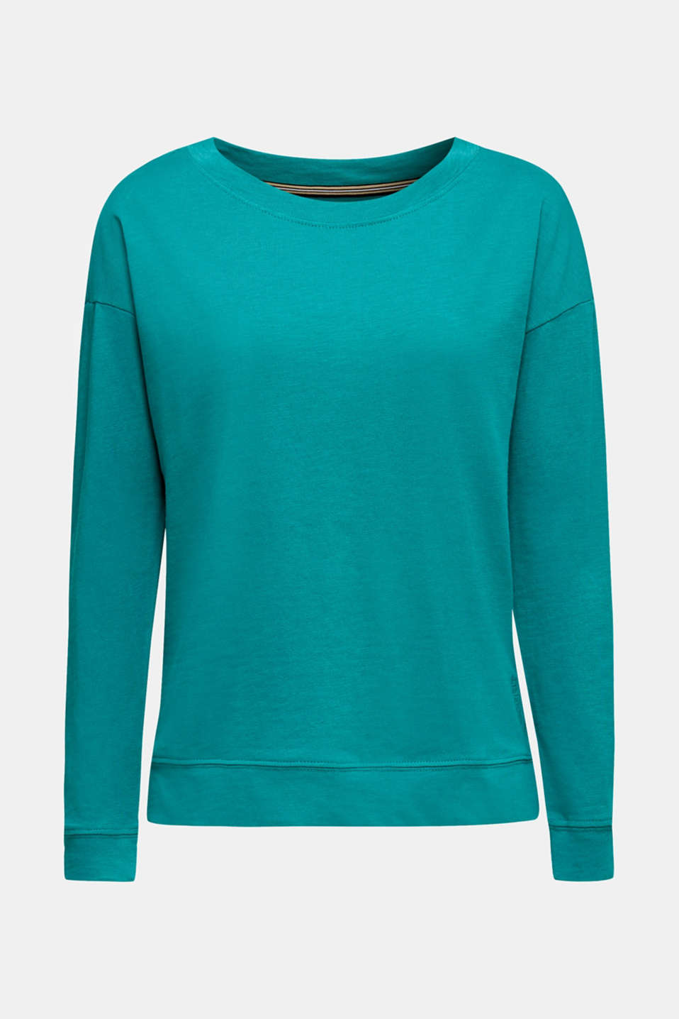 Slub sweatshirt made of 100% organic cotton, TEAL GREEN, detail image number 5