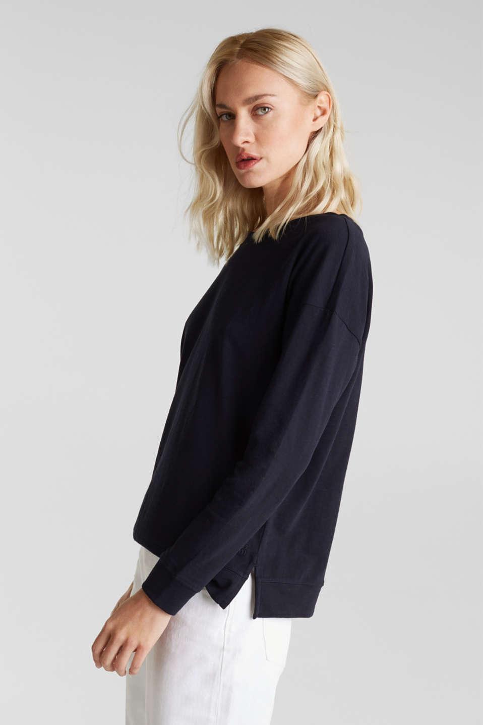 Slub sweatshirt made of 100% organic cotton, NAVY, detail image number 5