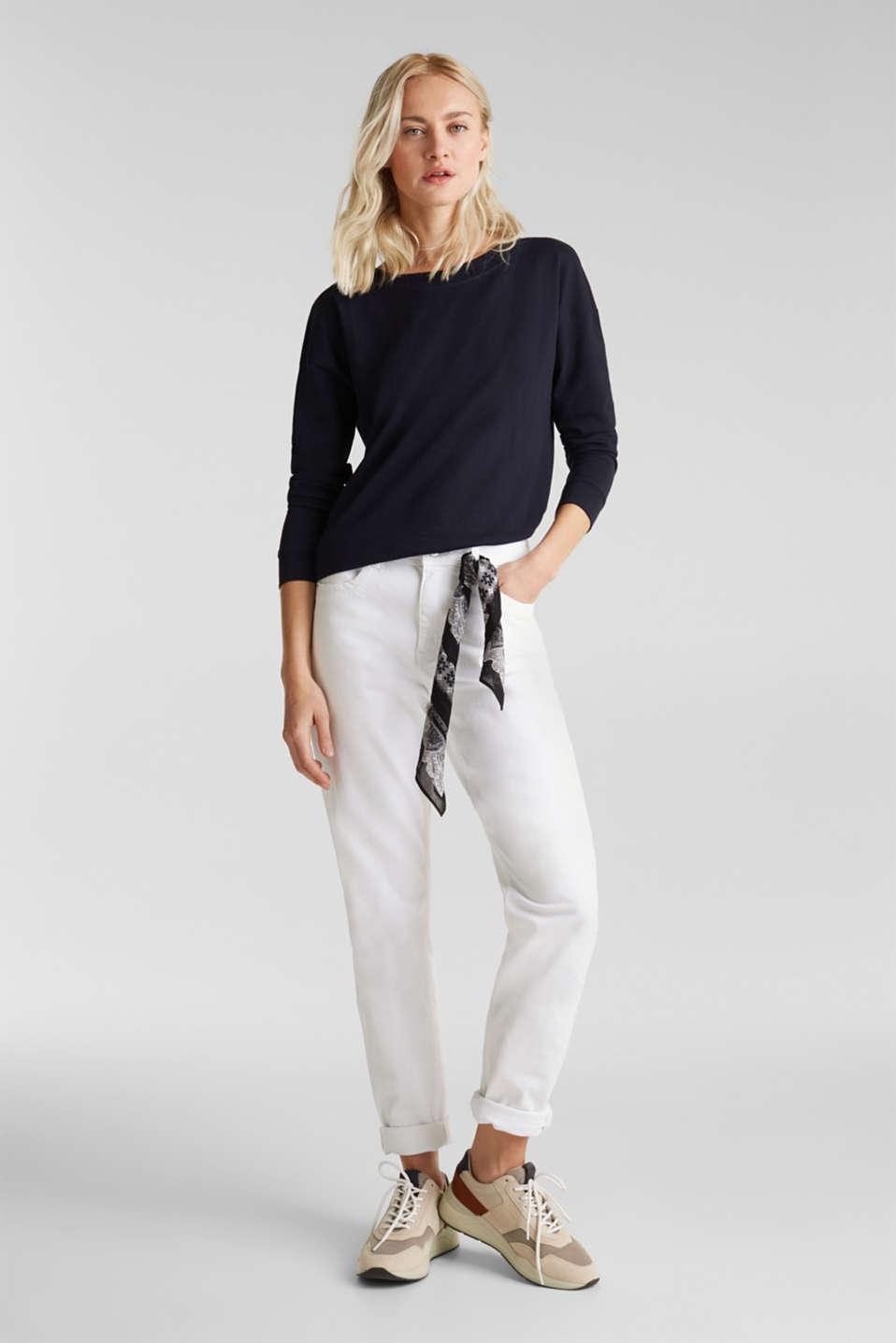 Slub sweatshirt made of 100% organic cotton, NAVY, detail image number 1