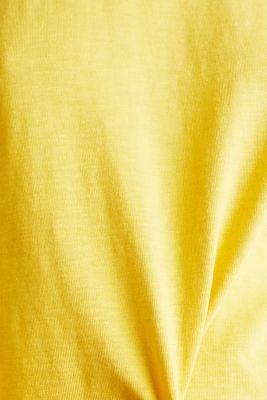Slub sweatshirt made of 100% organic cotton, YELLOW, detail