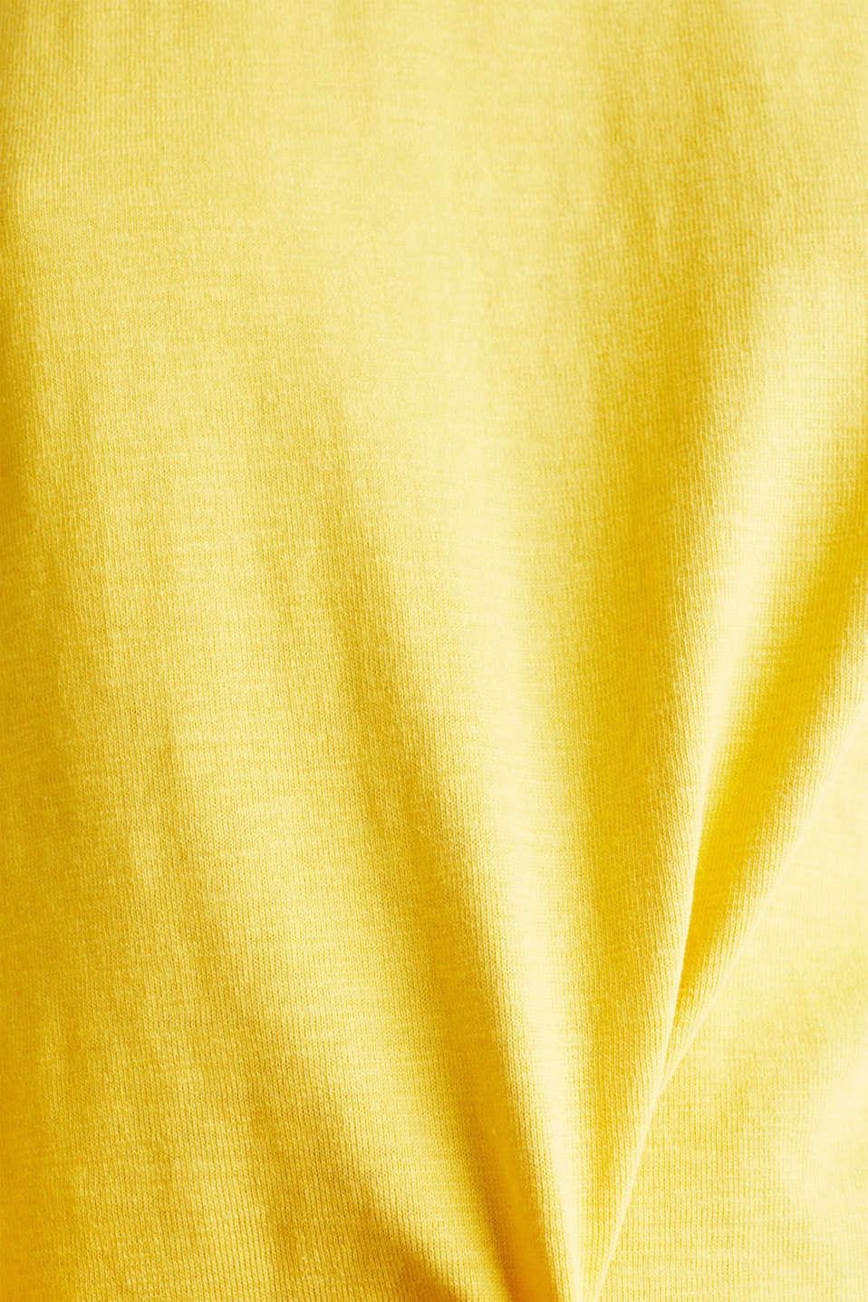 Slub sweatshirt made of 100% organic cotton, YELLOW, detail image number 3