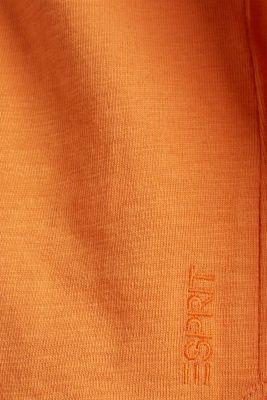 Slub sweatshirt made of 100% organic cotton, RUST ORANGE, detail