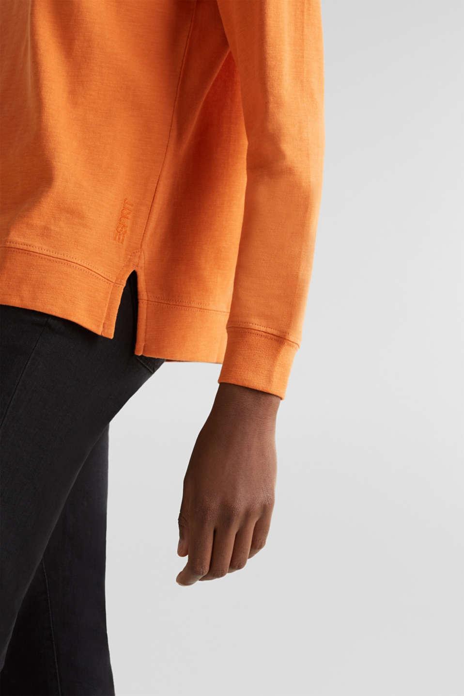Slub sweatshirt made of 100% organic cotton, RUST ORANGE, detail image number 4