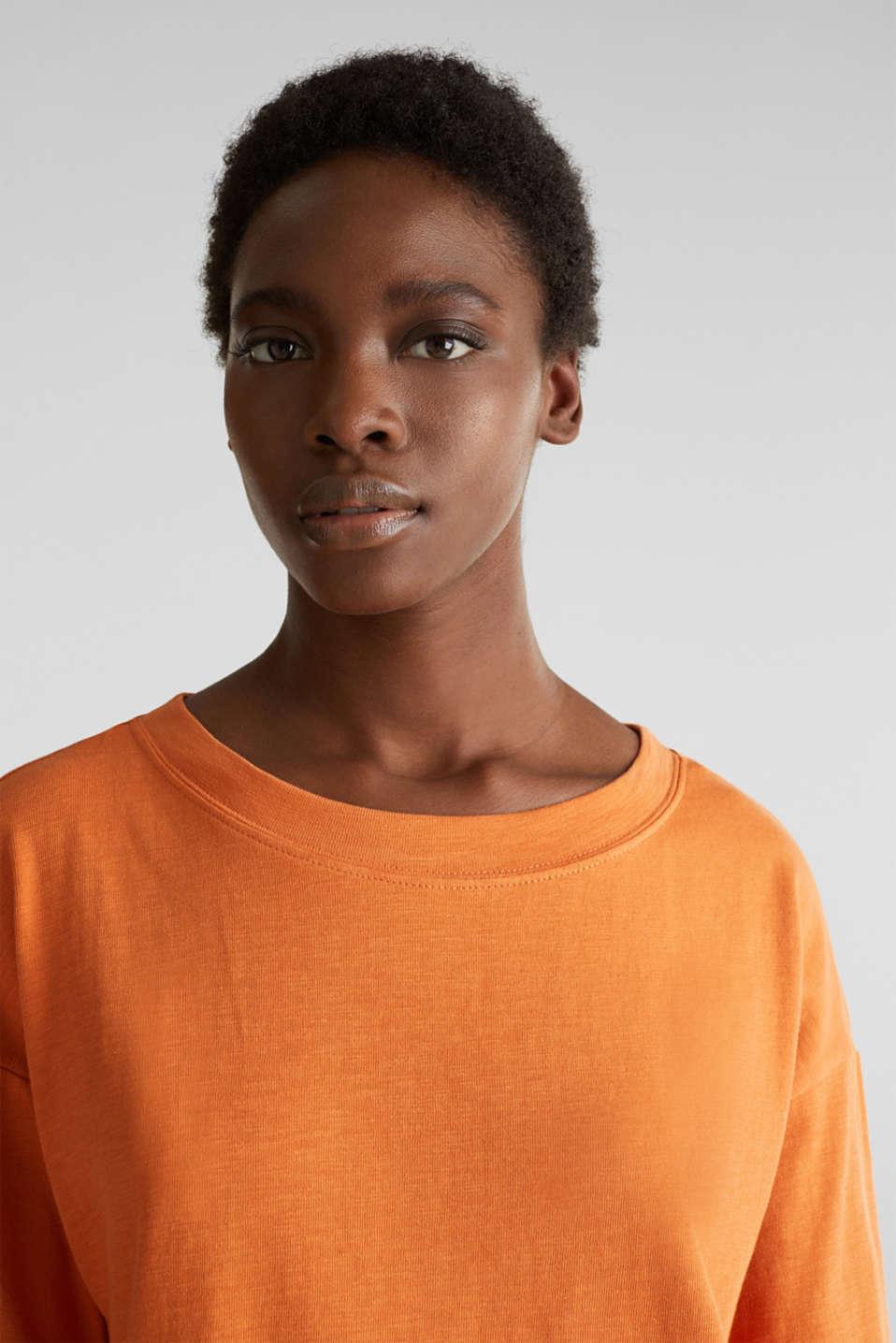 Slub sweatshirt made of 100% organic cotton, RUST ORANGE, detail image number 5