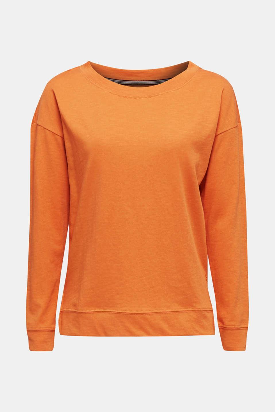 Slub sweatshirt made of 100% organic cotton, RUST ORANGE, detail image number 6
