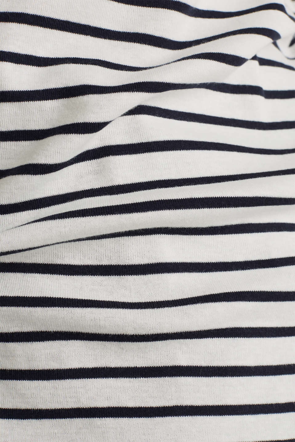 Striped top with ribbed borders, 100% cotton, NAVY, detail image number 4