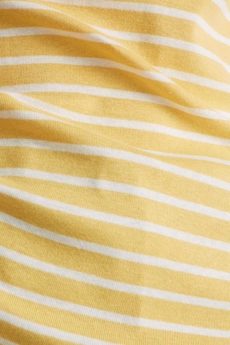 Striped top with ribbed borders, 100% cotton, YELLOW, detail image number 3