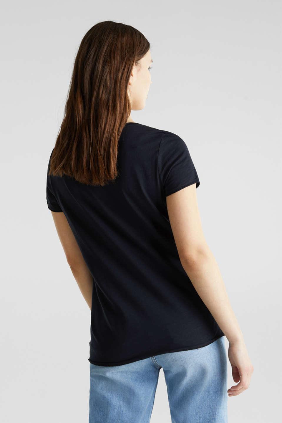Slub jersey T-shirt in 100% organic cotton, BLACK, detail image number 3