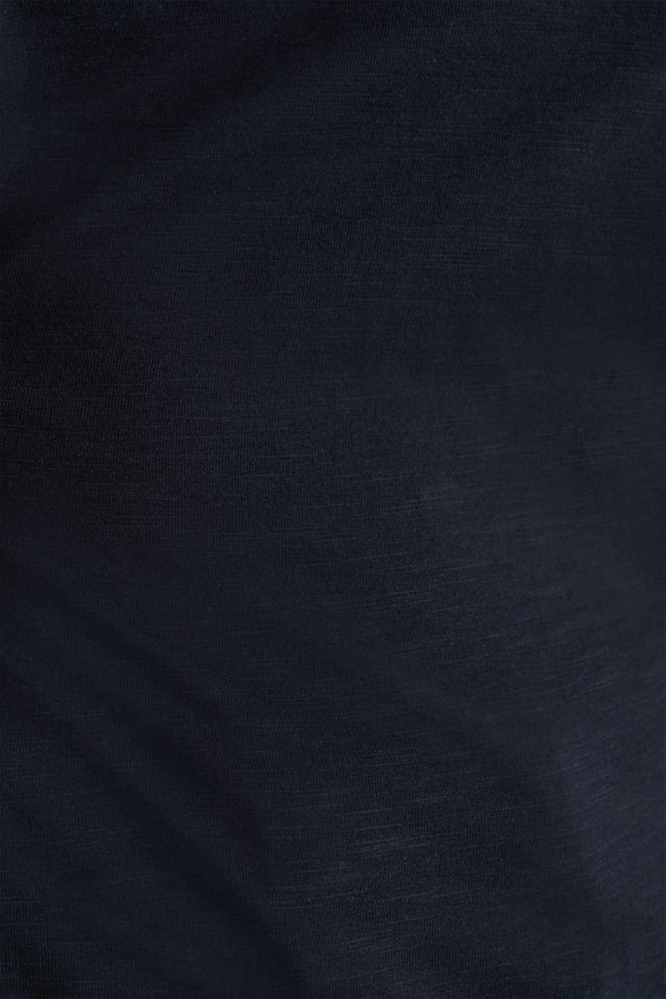 Slub jersey T-shirt in 100% organic cotton, BLACK, detail image number 4