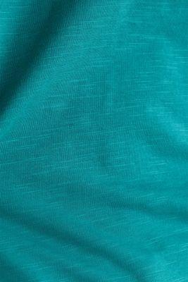 Slub jersey T-shirt in 100% organic cotton, TEAL GREEN 4, detail