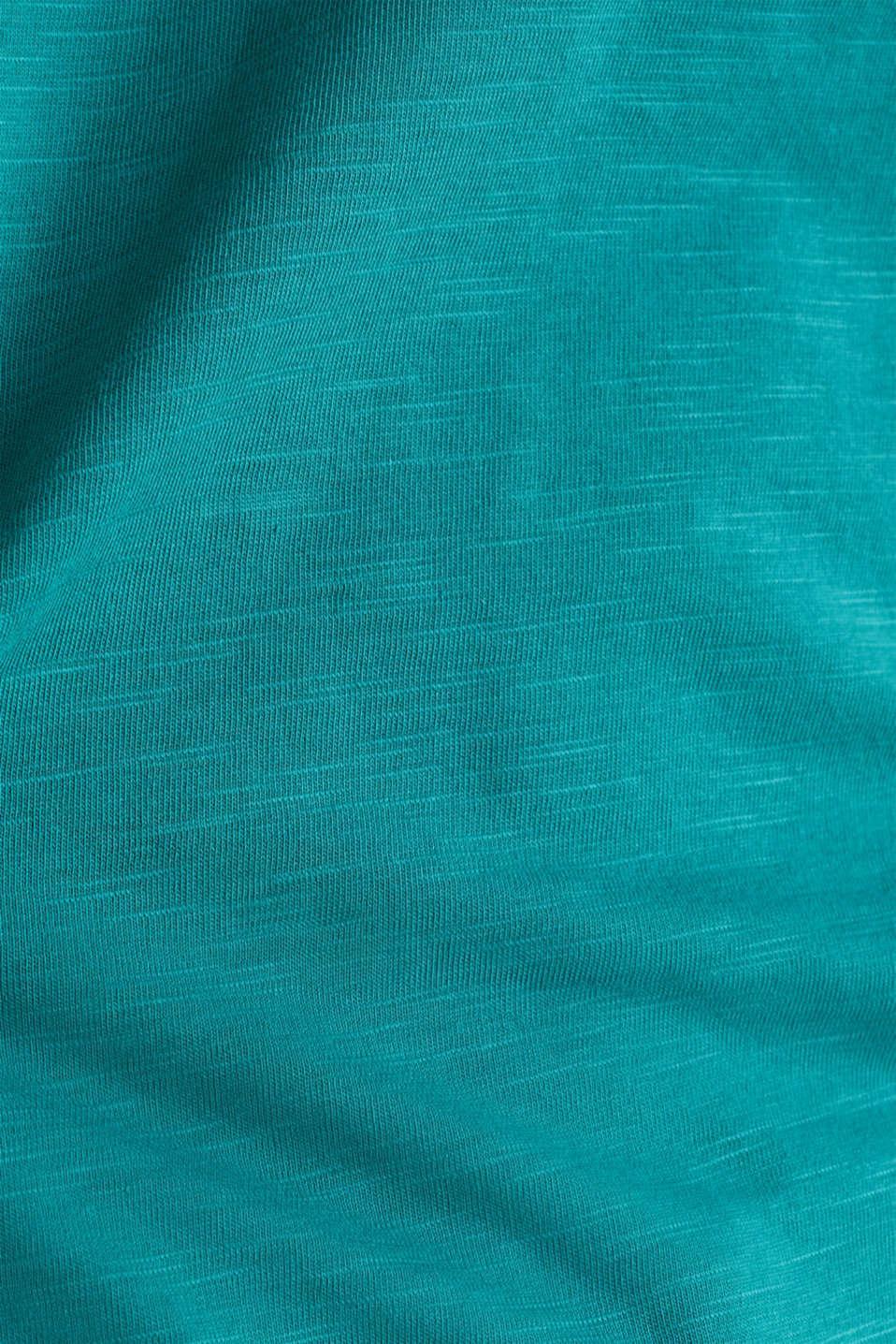 Slub jersey T-shirt in 100% organic cotton, TEAL GREEN 4, detail image number 3