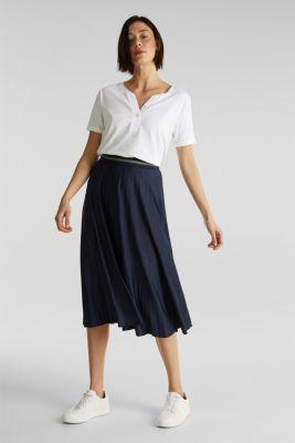 Slub T-shirt with a Henley neckline, 100% cotton, WHITE, detail
