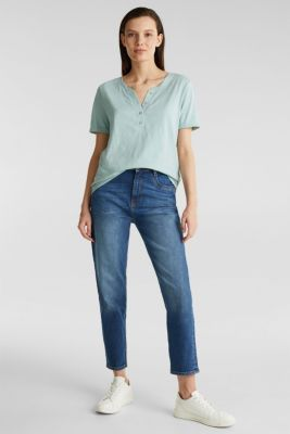 100% cotton Henley T-shirt, LIGHT AQUA GREEN 4, detail