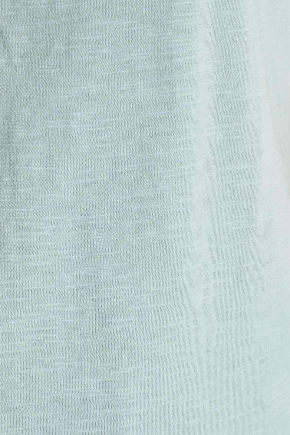 100% cotton Henley T-shirt, LIGHT AQUA GREEN 4, detail image number 4