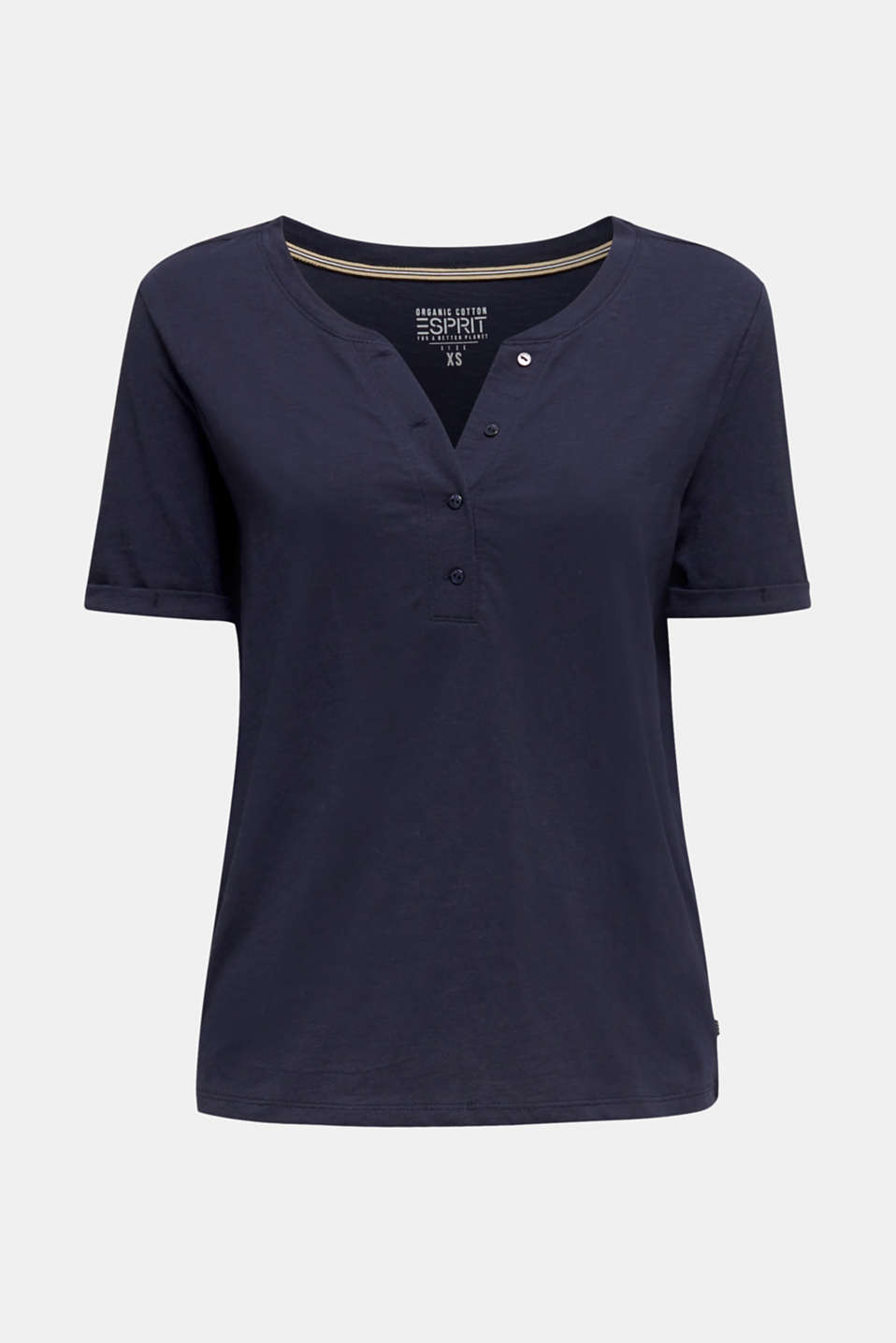 100% cotton Henley T-shirt, NAVY, detail image number 6