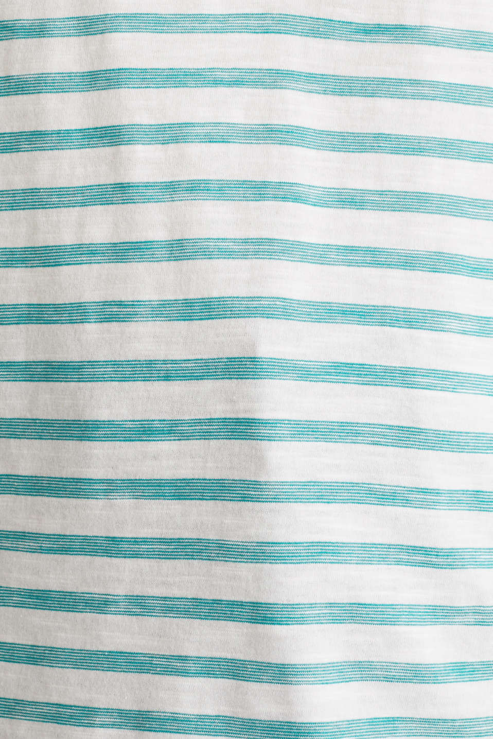 Striped Henley T-shirt, 100% organic cotton, TEAL GREEN 4, detail image number 3